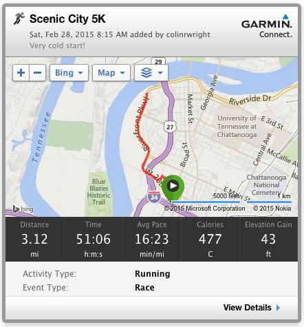 Scenic City 5K Course