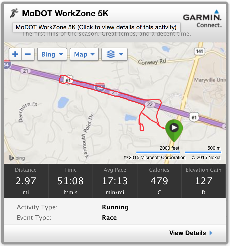 MoDOT Work Zone 5K